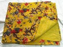 Hand Made Bird Print Quilt