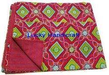 Jaipuri Hand Made Kantha Bed Sheet