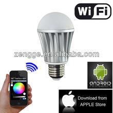 Intelligent led light wifi led lamp,E14 B22 E27 wifi led lamp