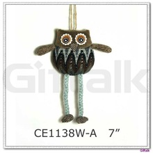 Small size owl hanging ornament
