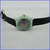 Luxury jade swiss movement genuine leather brand watches ladies