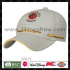 applique cap with woven label laser plate buckle cap baseball cap