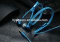 Cremallera de metal de colores de auriculares auriculares con micrófono y control de volumen 3.5mm estéreo jack