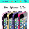 2014 0.7mm ultra slim metal bumpe metal bumper for iphone 5/5s fancy cell phone cases