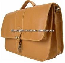 latest design laptop computer bag with compartment/ trendy western leather laptop bags/ stylish brown laptop bags