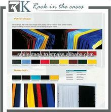 100% Polyester Loop Velvet drapery fabric