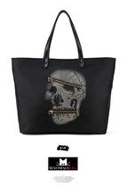 2014 new arrivel skull brand handbag,skull tote bag,massager handbags made in china factory price