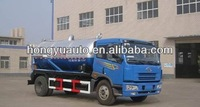 185HP JIEFANG 10-11m3 sewage suction truck/fecal suction truck