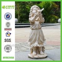 Unpainted Girl Figurine Garden Resin Baby Crafts