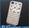 For iPhone 4 4s Cheap Wholesale Custom Bling Phone Cases Rivet Studded Case For iPhone 4 Factory DIY Case OEM Stock