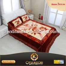 100% Polyester Korean Raschel Quality 4PCS Mink Bed Sets