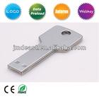 Key Shape Metal USB key support Customized logo promotional item