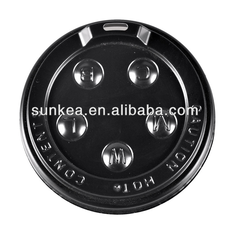 hot coffee Cup lid, hot plastic cup cover with spout