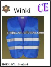 100gsm Solid Vest Reflective Blue