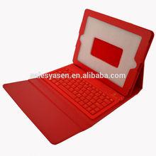 3.0 compliant PU leather+silicone bluetooth keyboard case for ipad mini 2/mini