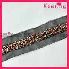 Unique elegant beading trimming lace for dress/bags/shoes WTP-1143