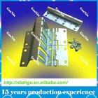 Adjustable finger protection double track side hinge