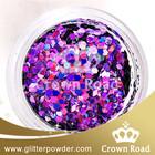 China acrylic nails with glitter powder