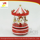 Wooden Christmas Wind Up Carousel Music Box