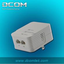 wallmount type plc adapter Wireless module supports AP Mode 200mbps oem 2-port homeplug oem ethernet powerline av network adapte