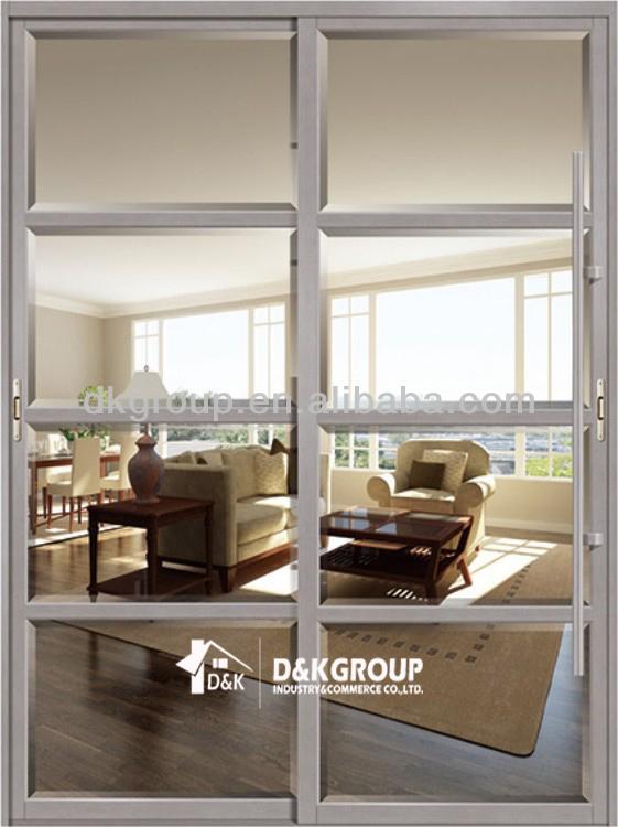 Aluminum alloy balcony double sliding screen doors