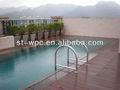 madeira decking composto plástico decorar a piscina
