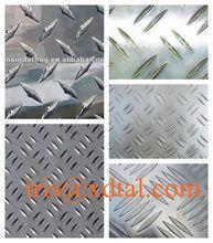 1050/1060/1100aluminum checkered plates one bar (diamond) sheet