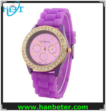 Wholesale watch silicone with diamond watches japan movt for men/women