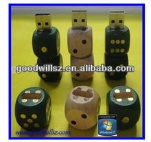 OEM Dice USB Flash Drive 2.0,wooden dice usb drive wholesale price 8/16GB CE/ROHS