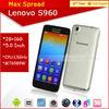 New arrival MTK6589w Quad Core Mobile Phone 1920*1080 2gb ram 16gb rom s960 Lenovo Vibe X