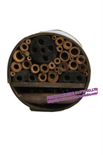 2014 new design round wooden insect house/hotel providing shelter for insects