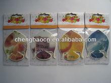 Paper Air Freshener for Car / elegent peach shape paper air freshener for car,bedroom,smoking room