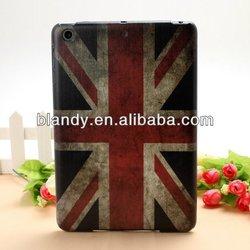 New UK USA flag flower hard cover case for ipad mini2