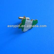 Nigeria Epoxy Cuff link/cufflinks/cuff links/soft enamel stamped cuff link with epoxy