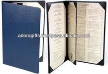 ADAMC - 0081 pu leather menu holder for restaurant & hotel / food menu holder for restaurant / new style cheap menu cover