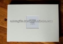 ADAPAC - 0070 white leather custom wedding album / new design leather album wedding album / top selling photo album gifts