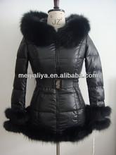2014 Newest european warm women fur down coat