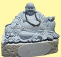 手彫りの石仏頭像