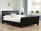 5-star bedroom leather bed | Furniture hotel