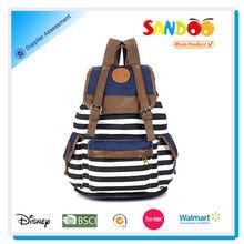 fashion women unisex backpack canvas leisure school bag