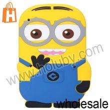 3D Cute Despicable Me Minion Silicone Case For iPad 2 the New iPad iPad 4