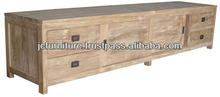 Antique Reproduction Furniture Teak Indoor Buffet Sideboard LED TV - Indonesia