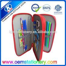 12pcs color pencil in nylon pencil case