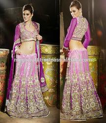 WHOLESALE INDIAN HEAVY LOOK BRIDAL LEHENGA-WEDDING WEAR LEHENGA -BOLLYWOOD FANCY DESIGN LEHENGA