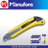 18mm cutting knife with snap-off blade , plastic retractable knife for cutting