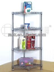 Zhong Shan 4 Tiers Adjustable Metal Corner Bathroom Shelf , NSF Approval