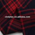 Cortinas 60*60 suave tela escocesa de hilados de algodón teñido de rojo negro a rayas de tela
