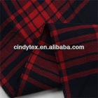 60*60 drapery soft plaid yarn dyed cotton red black striped fabric