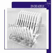 clear acrylic pen holder with 29 slots