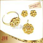 JH fashion Flower Jewelry Sets Sand Finish pakistani gold jewellery